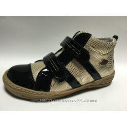 кожаные ботинки Renbut золото