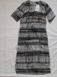 Платье H&M с коротким рукавом, удлинённое с разрезами по бокам