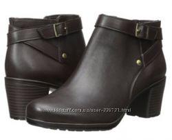 Элегантные кожаные ботинки, ботильоны из Америки, 39-40 размер. дешево