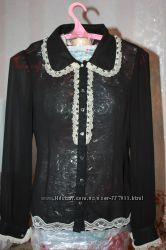 Шифоновая блуза и безрукавка к ней
