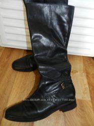 Сапоги кожаные демисезонные