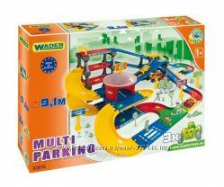 Паркинг с трассой 9, 1 м Kid Cars 3D, 53070 Wader