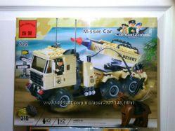 Конструктор Brick Машина с ракетной установкой 310 деталей
