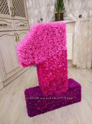 Цифра, цветы на годик цену снизила