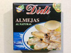 Моллюски в собственном соку Almejas Al Natural Didi, 111g