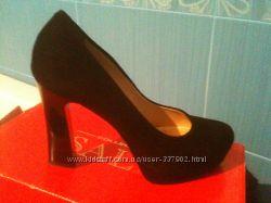 Туфли Sala замшевые, черные