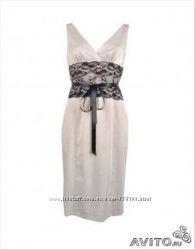 Платье атласное Oodji