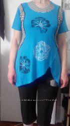 летний костюм туника и бриджи большие размеры