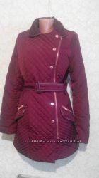удлиненная демисезонная куртка Next цвет марсала р 46 почти новая