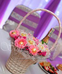 Сладкие подарки букеты на свадьбу