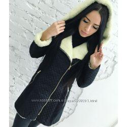 Пальто на овчинке 42 44 46 48
