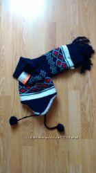 Набор шапка с шарфом  на овчине Kari