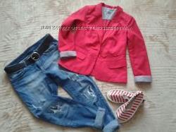 Пиджак Troll на подкладке, манжеты с отворотами. красный