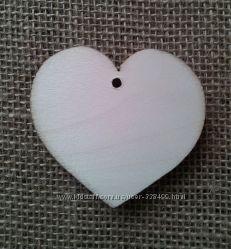 Деревянная заготовка Сердце