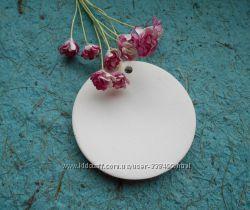 Керамическая заготовка медальон Круг