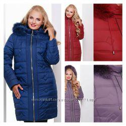 Зимнее пальто с натуральной опушкой 50-62р.