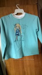 Blue seven - футболка для девочки, 128 рост - 8 лет