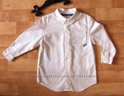 Рубашка фирменная, ленхлопок, отличное сост. , из Италии, 4-5 лет