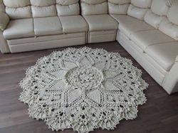 Вязаные коврики из полиэфирного шнура