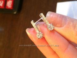 Красивые серьги серебряные модель невеста