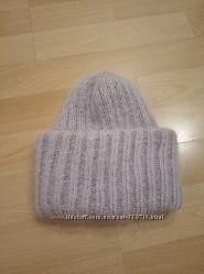 Объемная Махеровая шапка с двойным отворотом
