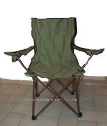 Раскладной стул с подстаканником КЕМПИНГ