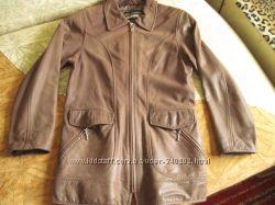 Кожаная куртка шоколадного цвета. Корея.