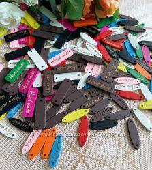 нашивки handmade деревянные разнообразие цветов в наличии