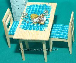 стол и стулья для маленьких  куколок
