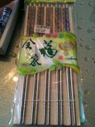 Металлические  многоразовые палочки для суши