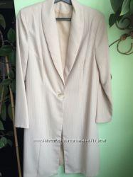 Стильный костюм - двойка платье - футляр удлинённый кардиган Р. 48