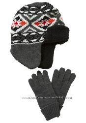 Набор шапка перчатки Tesco на 4-6 лет