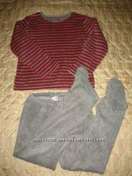 Велюровая пижама La Redoute на 5-7 лет, рост 116-122 см