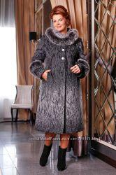 Пальто женское зимнее, выполненное из оригинальной итальянской шерстяной тк