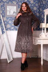 Пальто женское зимнее, выполненное из итальянской шерстяной ткани, полуприл