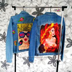 Художественная роспись джинсовок