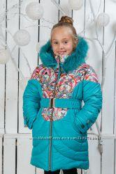 Новинки 2016 Зимнее пальто для девочек Леся. Невероятно красивые