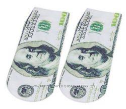 Носки Доллары  с интересными рисунками