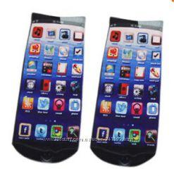 Носки Айфон-экран телефона