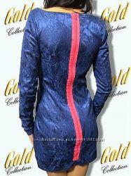 Красивое короткое платье из гипюра с молнией на спине