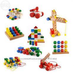 Деревянные игрушки Игрушки из дерева лабиринт каталка и др.