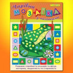Мозаика для малышей крупные наклейки Глория