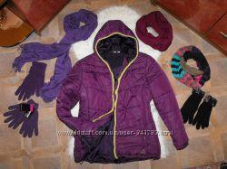 Оригинал SPORTS супер удобная теплая курточка и хомуты и рукавички отл сост