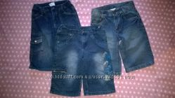 Много фирменные джинсовые бриджи для парня