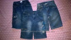 Разные фирменные джинсовые бриджи для парня