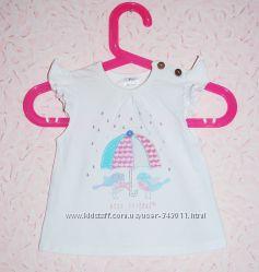 Футболки для новорожденной девочки 0-3 мес. Hello Kitty, F&F
