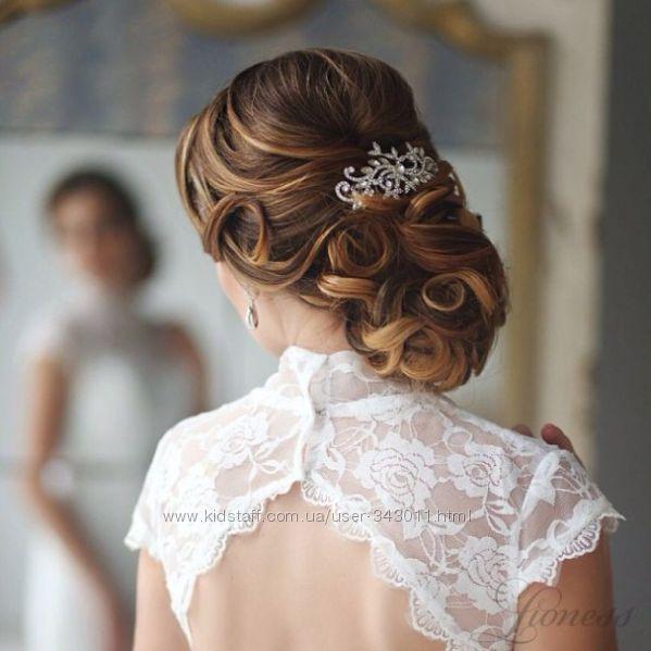 Свадебные украшения для волос с кристаллами Swarovski и жемчугом.