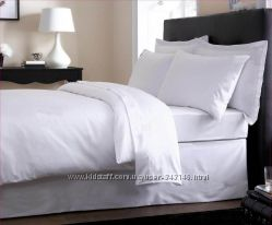 Полуторное постельное белье из белой бязи