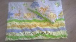 Продам набор одеяло и подушка в детскую кроватку