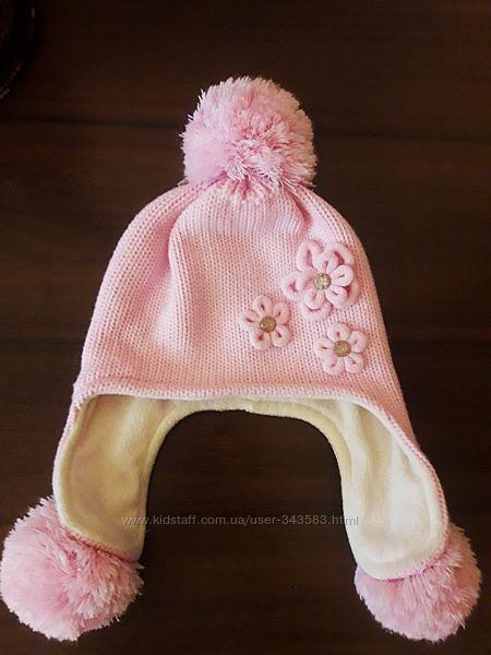 Зимняя шапка для девочки 4-5 лет